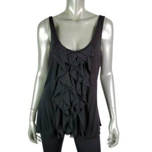New York & Co Womens Ruffle Top Size XL Low Scoop